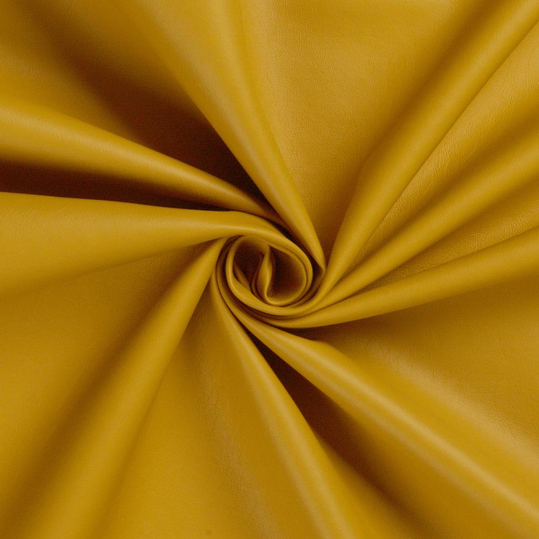 Leatherlook Mustard Dress Fabric