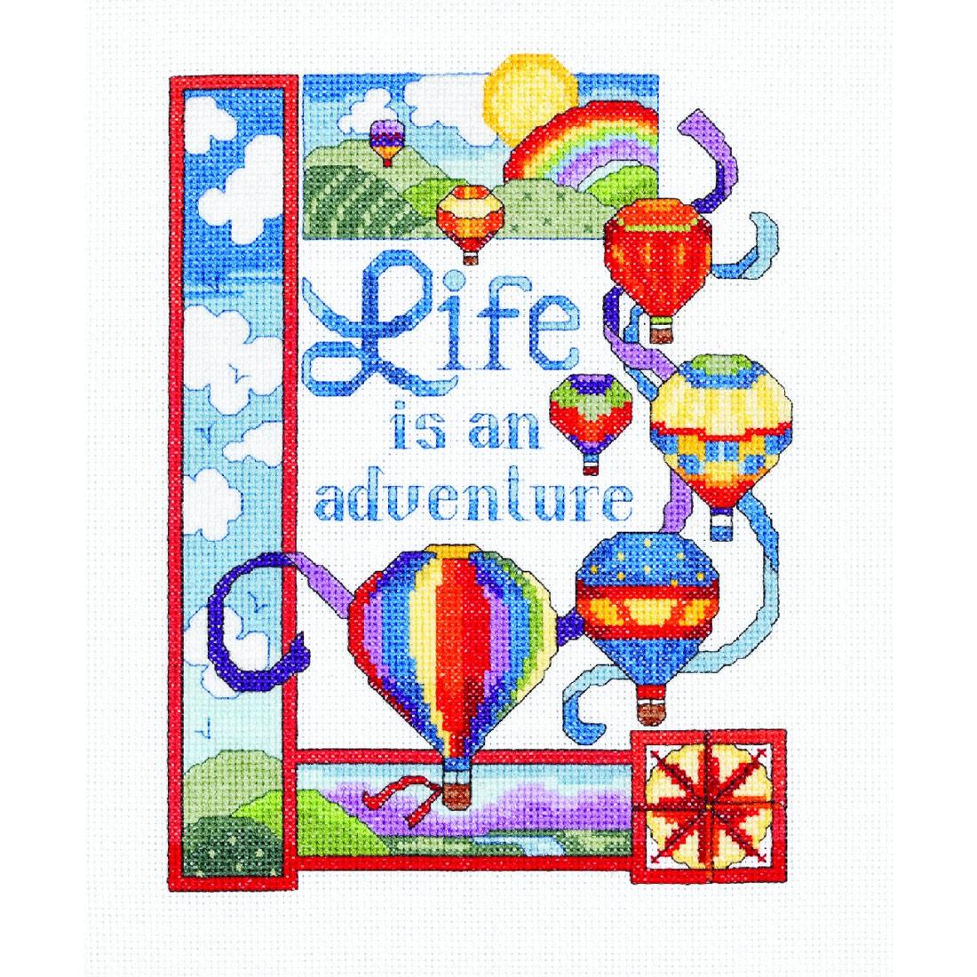 Life Is An Adventure Cross Stitch Kit
