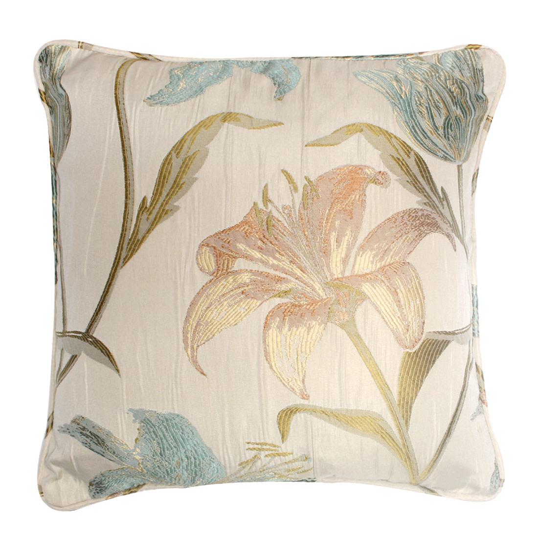 Lily Aqua Cushion Cover