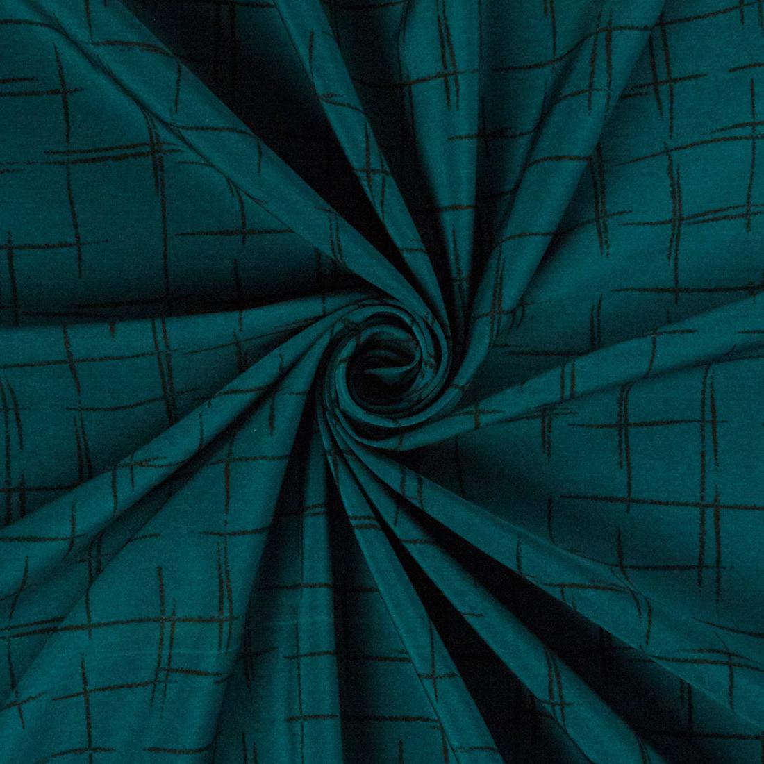 Linear Crepe Teal Dress Fabric