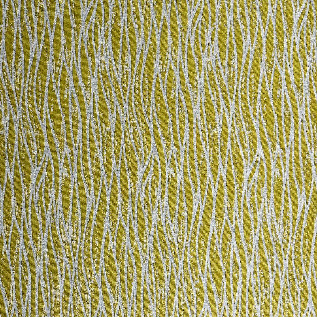Linear Ochre Curtain Fabric