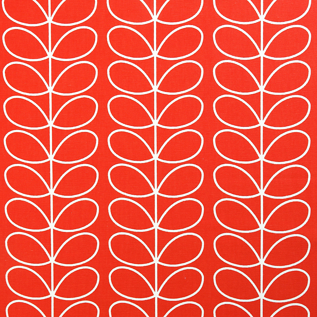 Orla Kiely Linear Stem Tomato Curtain Fabric