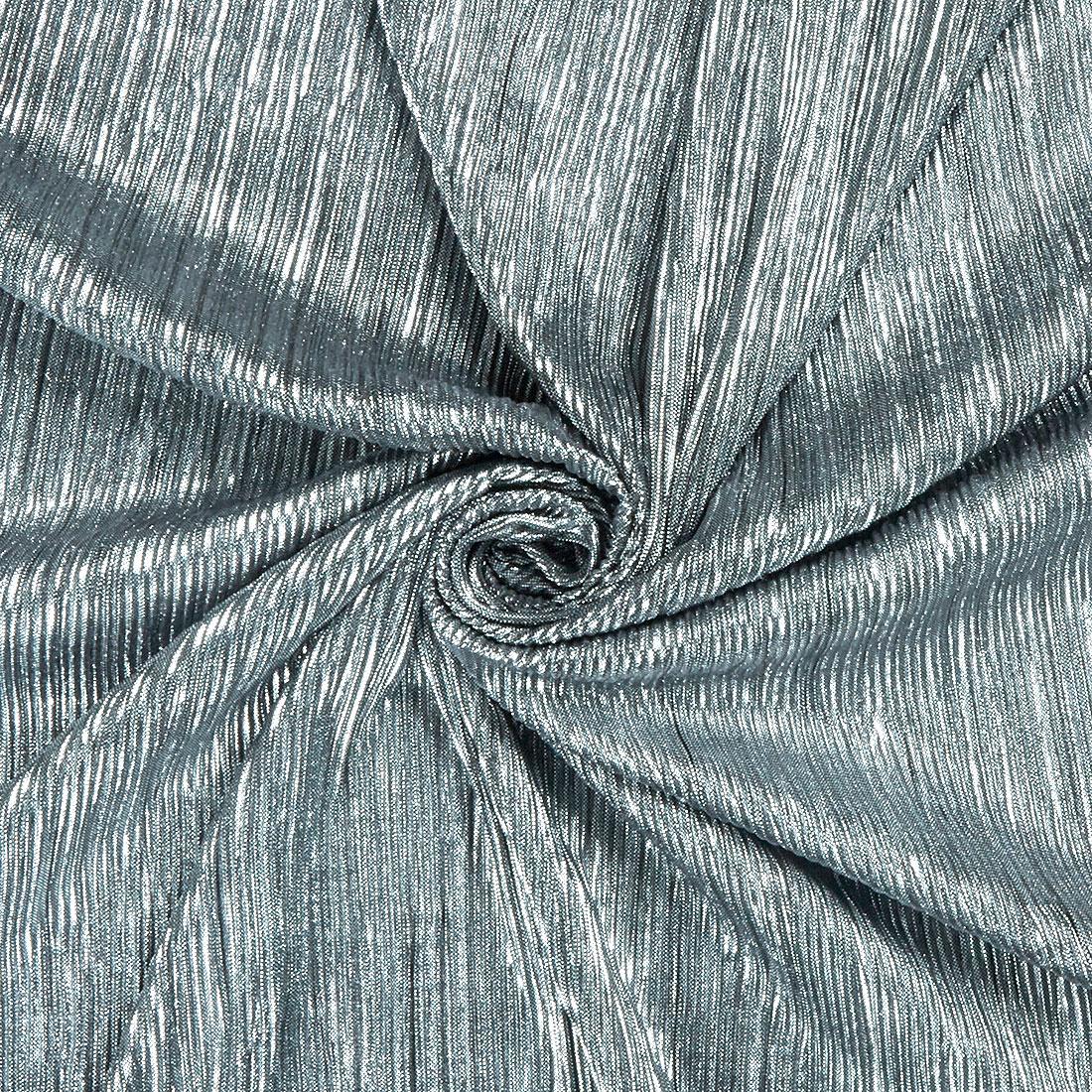 Lurex Plisse Silver