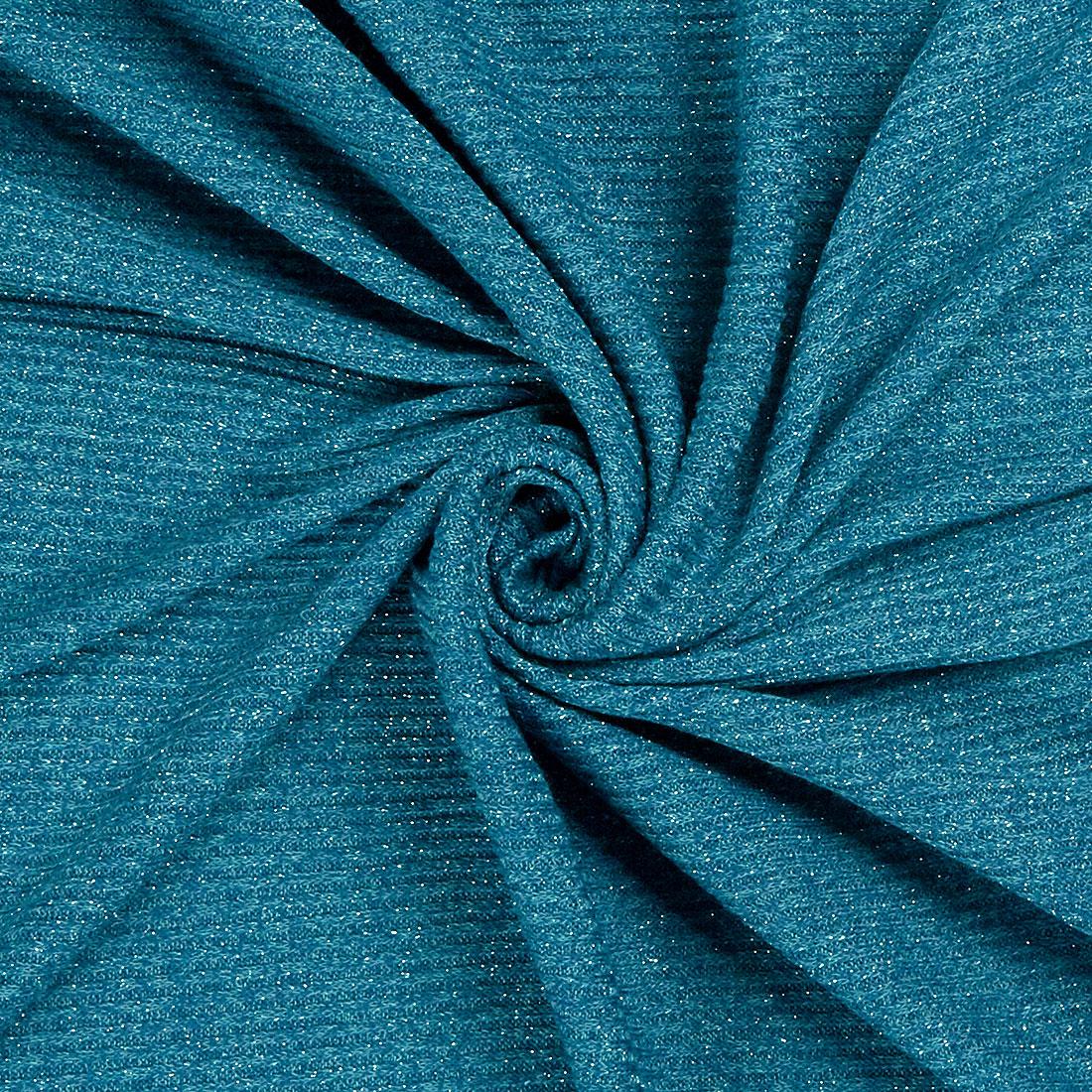 Lurex Rib Turquoise