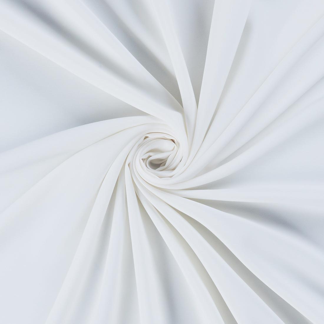 Luxury Crepe Ivory Dress Fabric