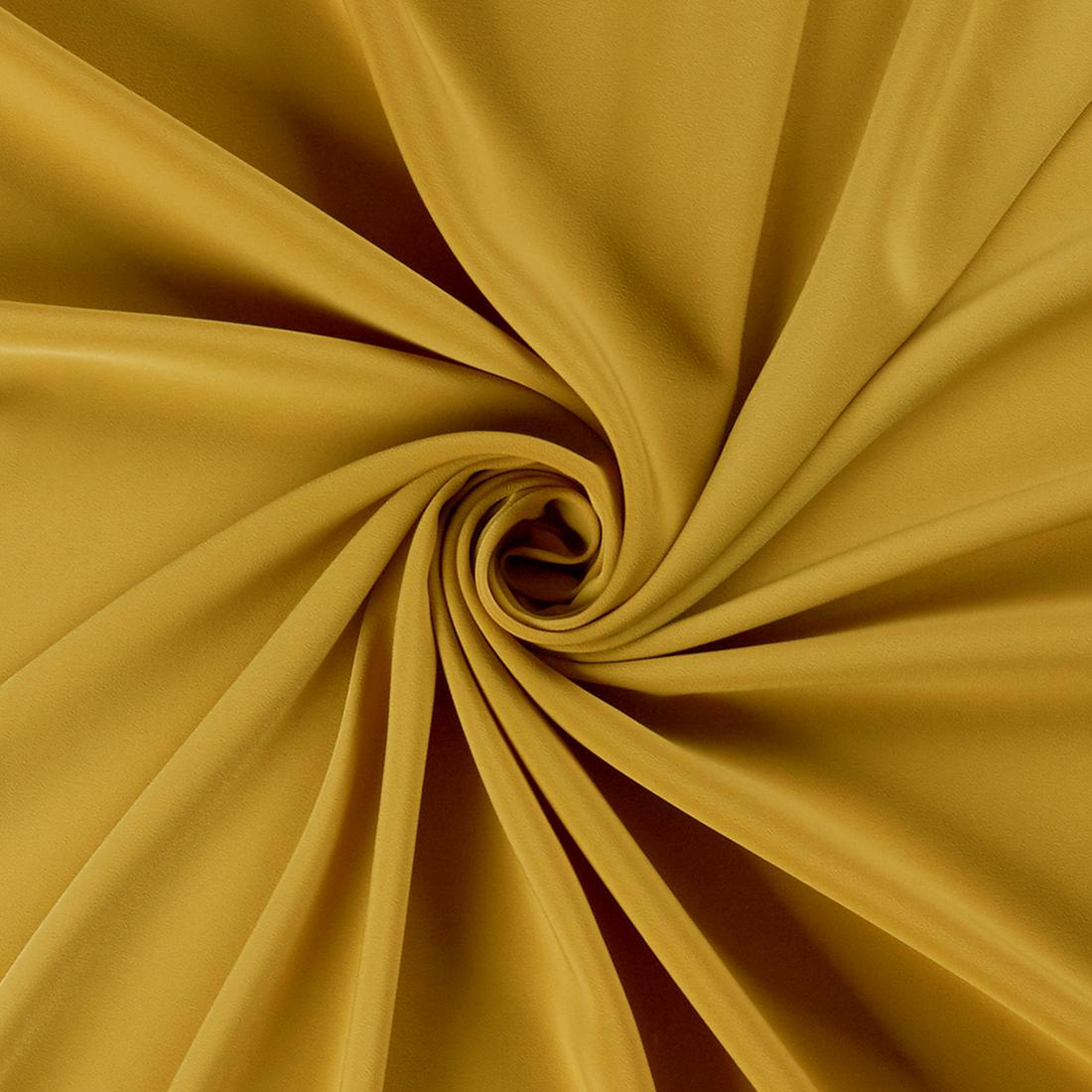 Luxury Crepe Mustard Dress Fabric