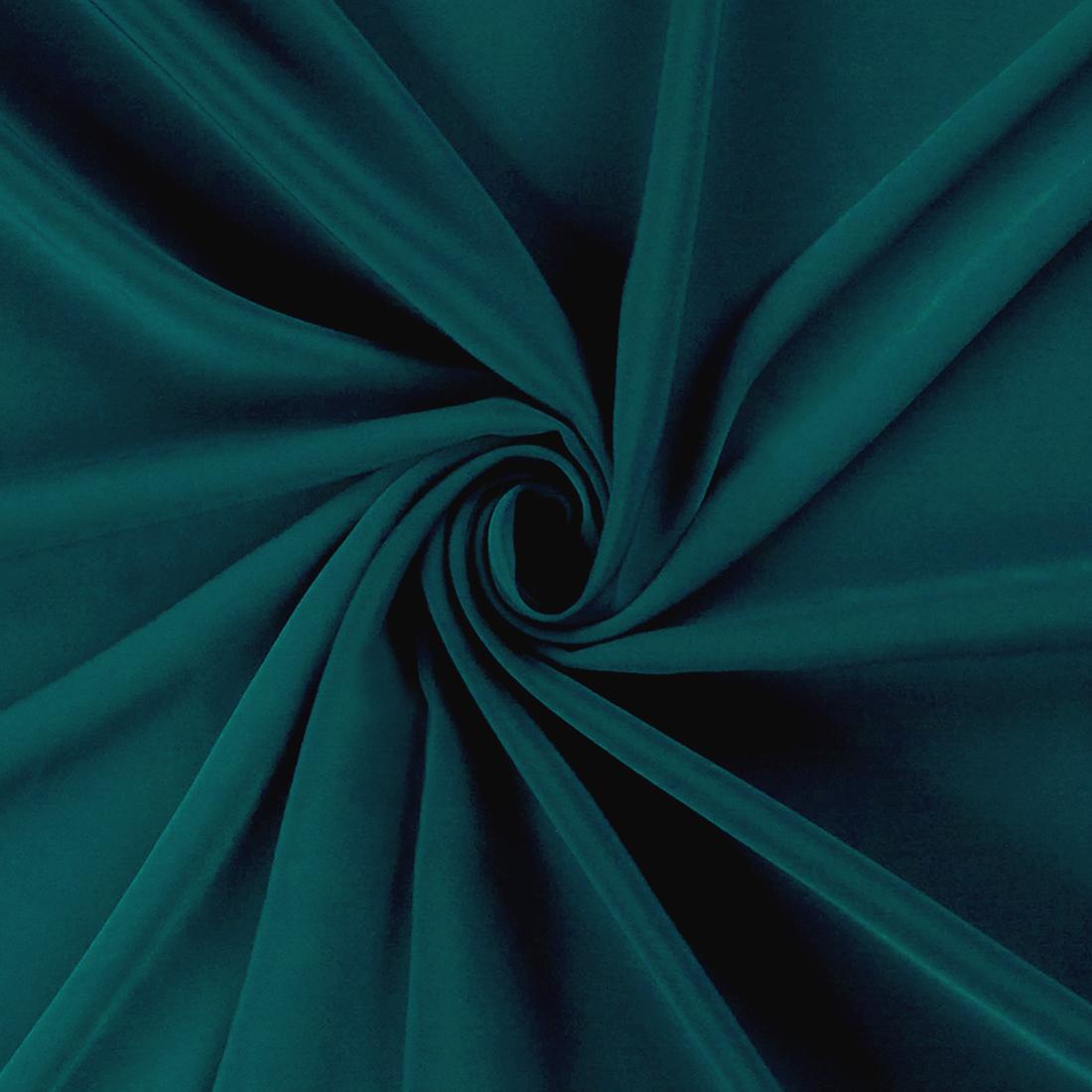 Luxury Crepe Teal Dress Fabric