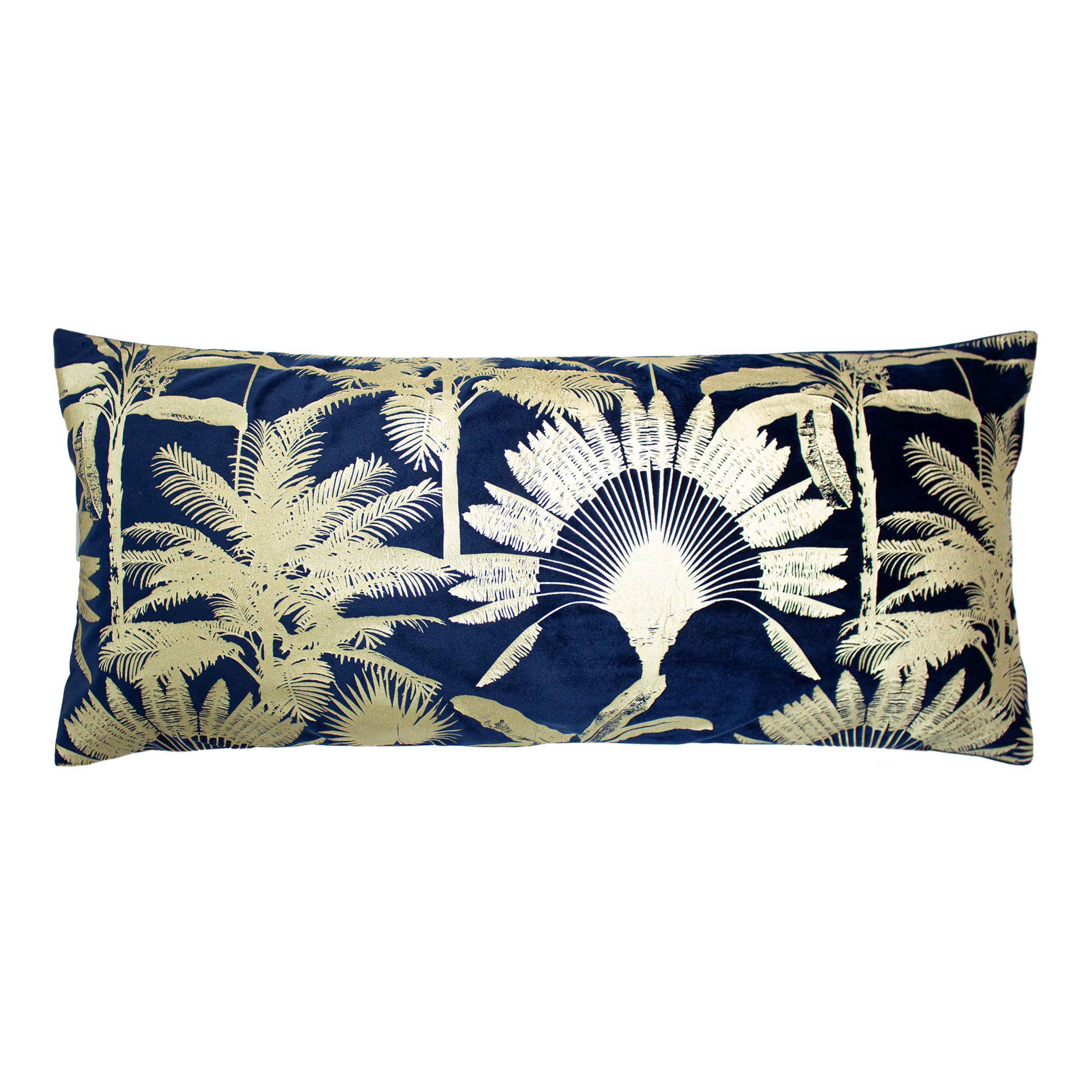 Malaysian Palm Navy Cushion
