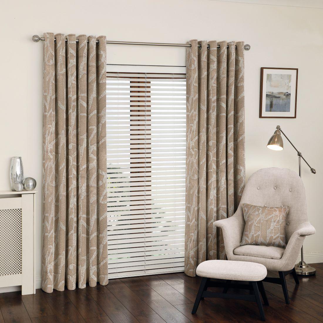 Manhattan Bronze Eyelet Curtains