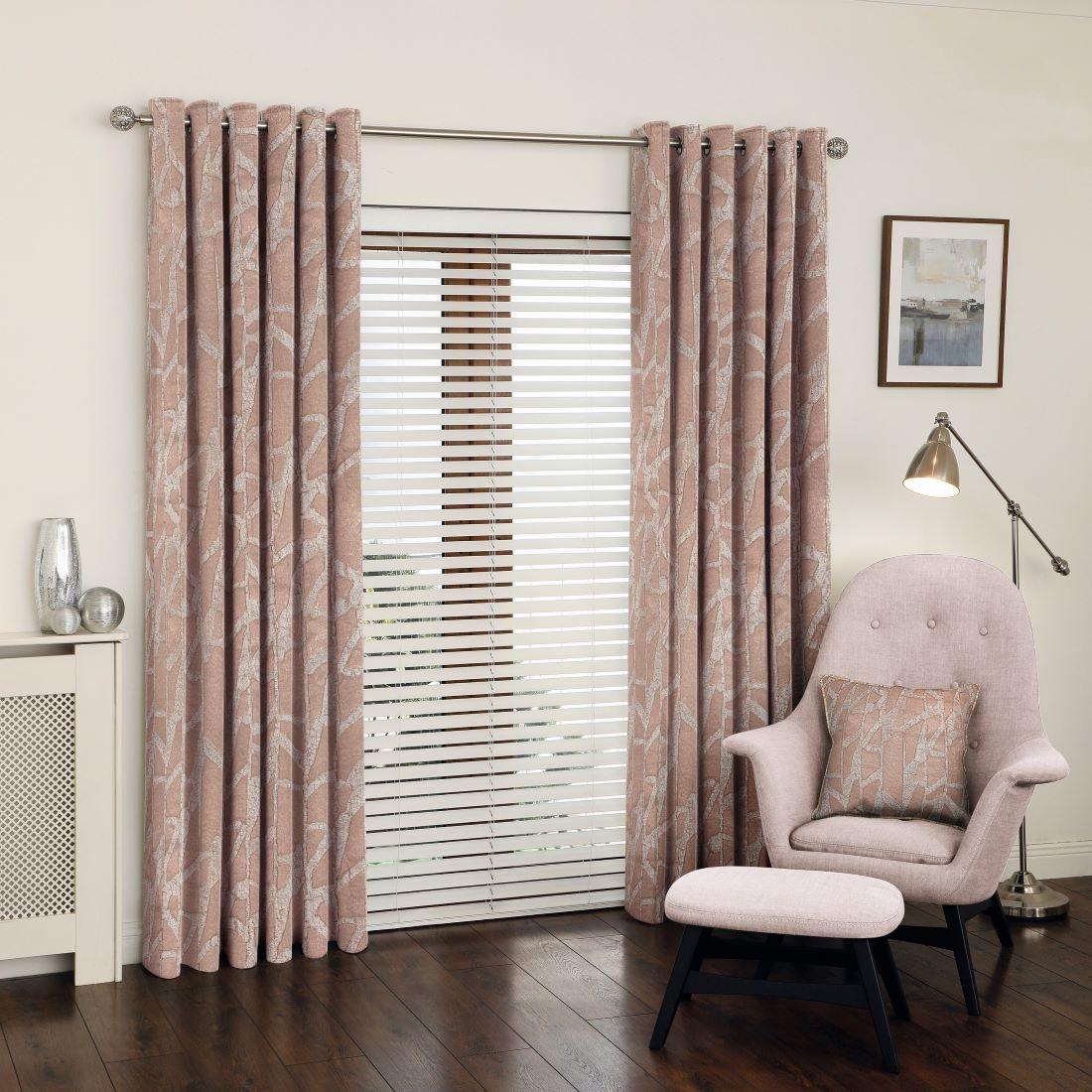 Manhattan Rose Gold Eyelet Curtains