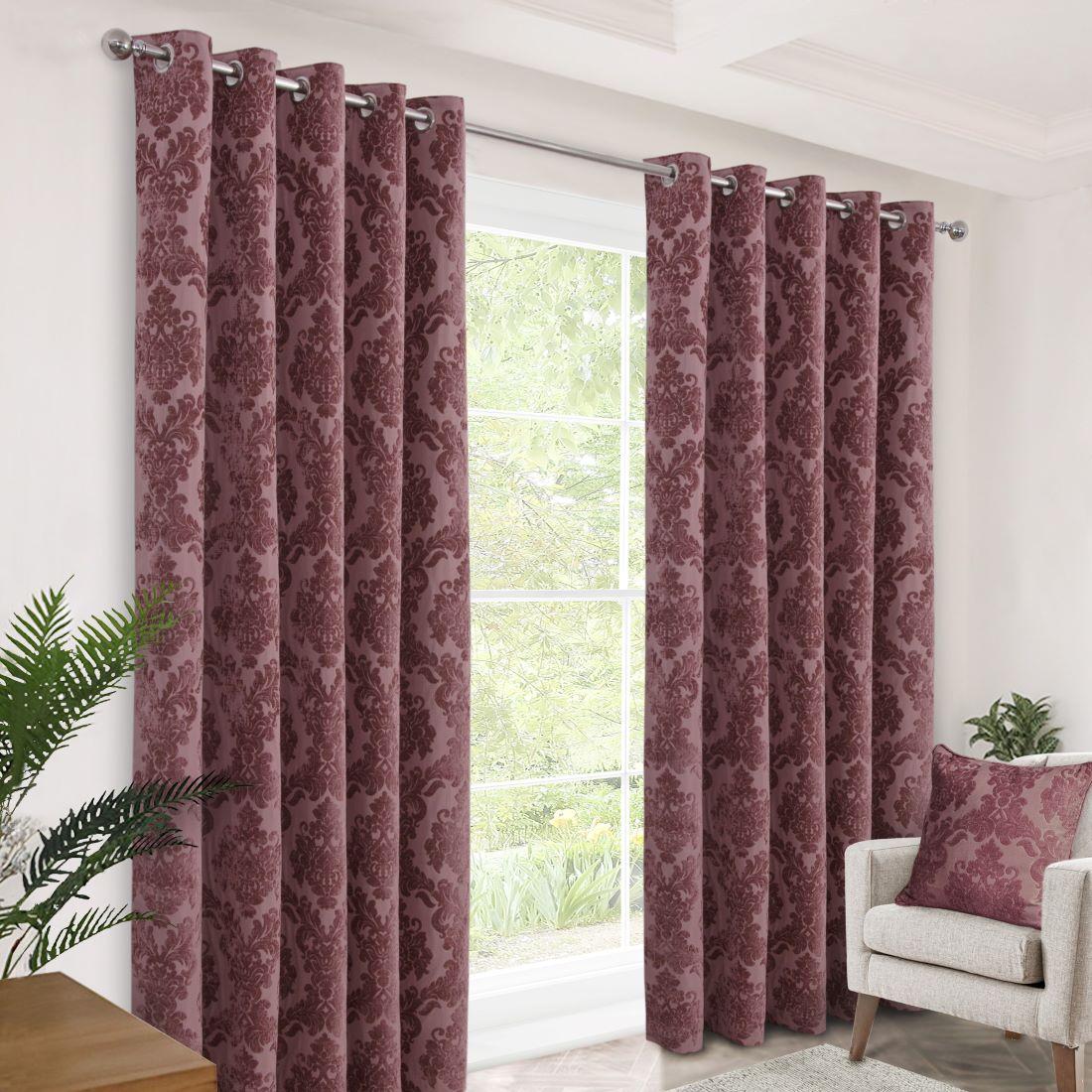 Merrion Old Rose Eyelet Curtains