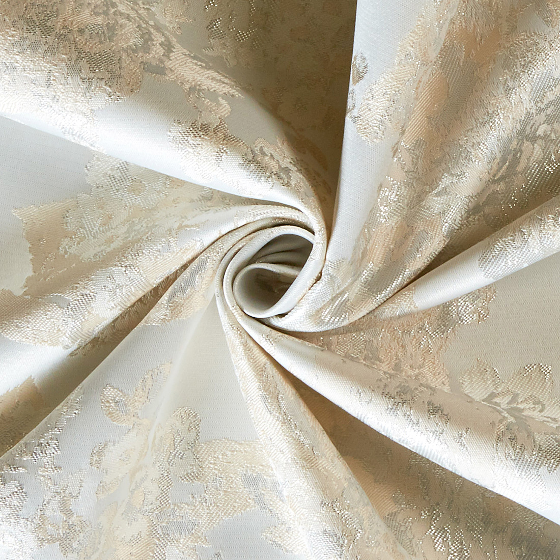 Metallic Satin Damask Ivory