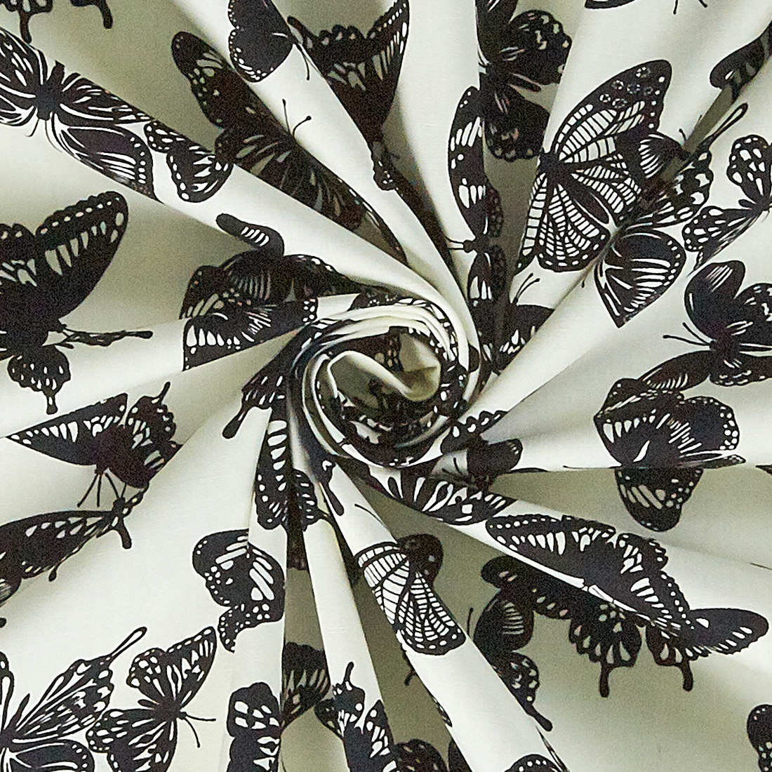 Cotton Mono Butterfly Ivory