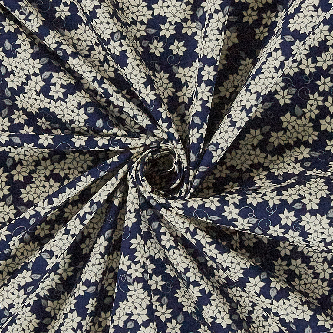 Cotton Mono Ditsy Floral Navy