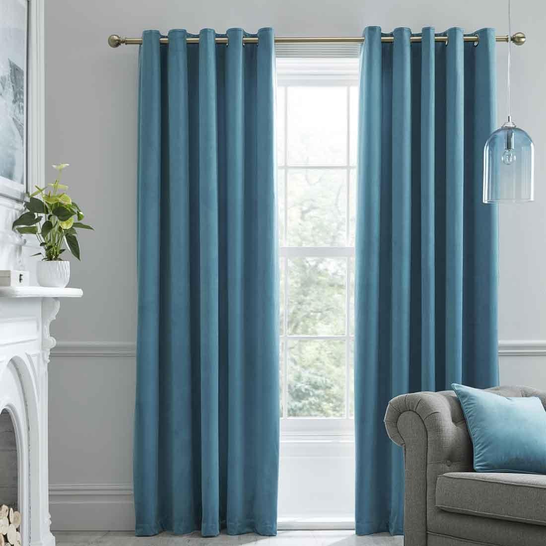 Montrose Duckegg Blackout Eyelet Curtains