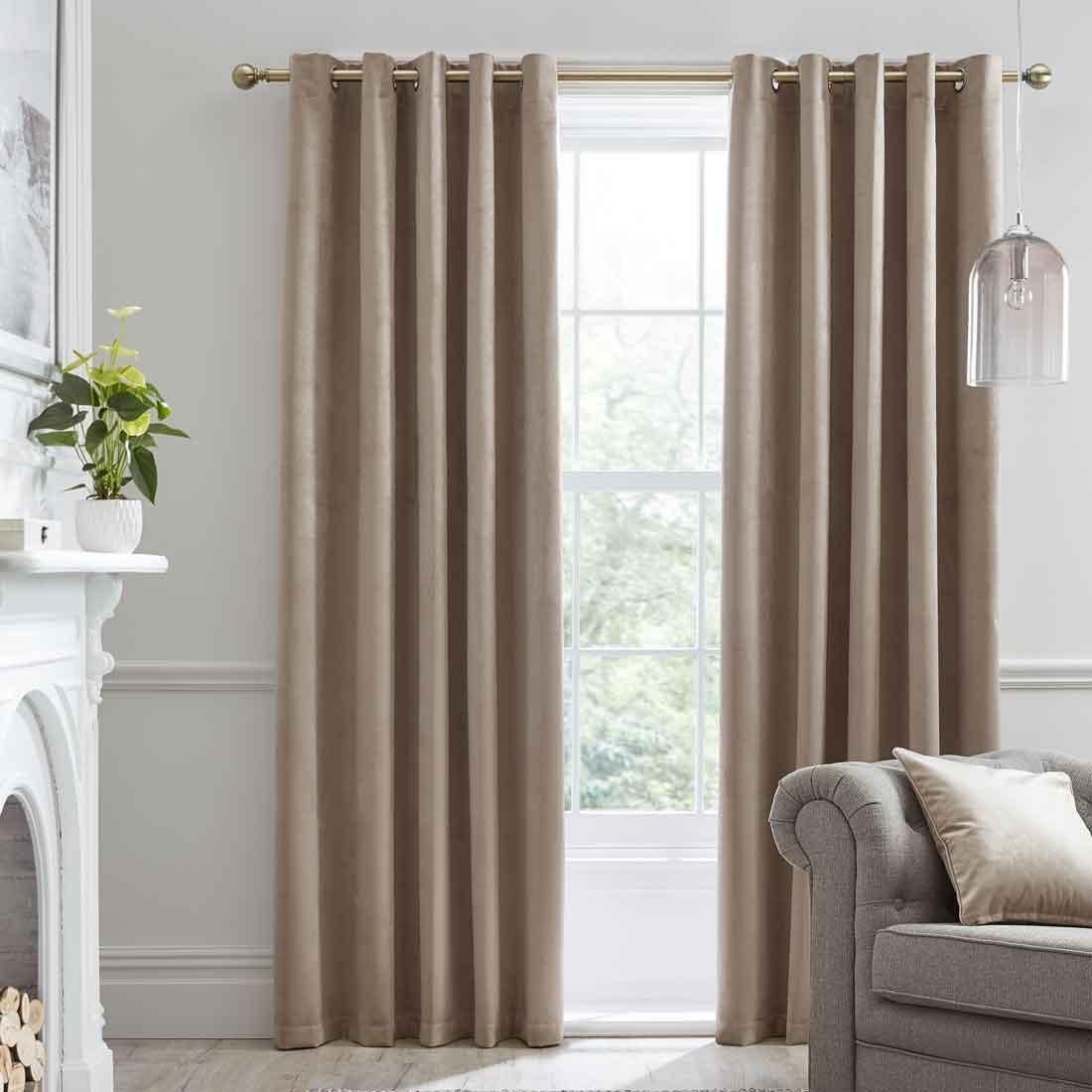 Montrose Linen Blackout Eyelet Curtains