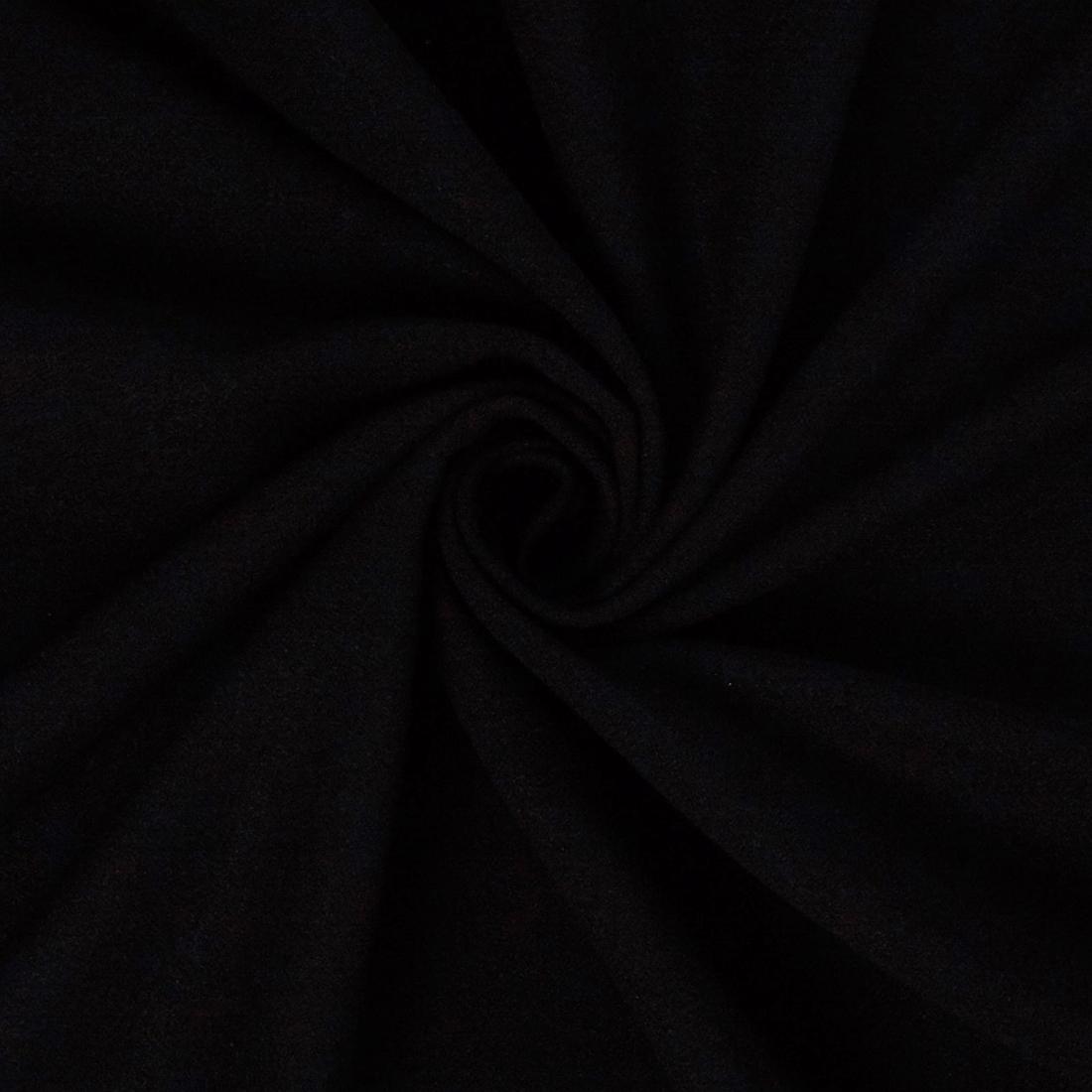 Moss Crepe Black Dress Fabric