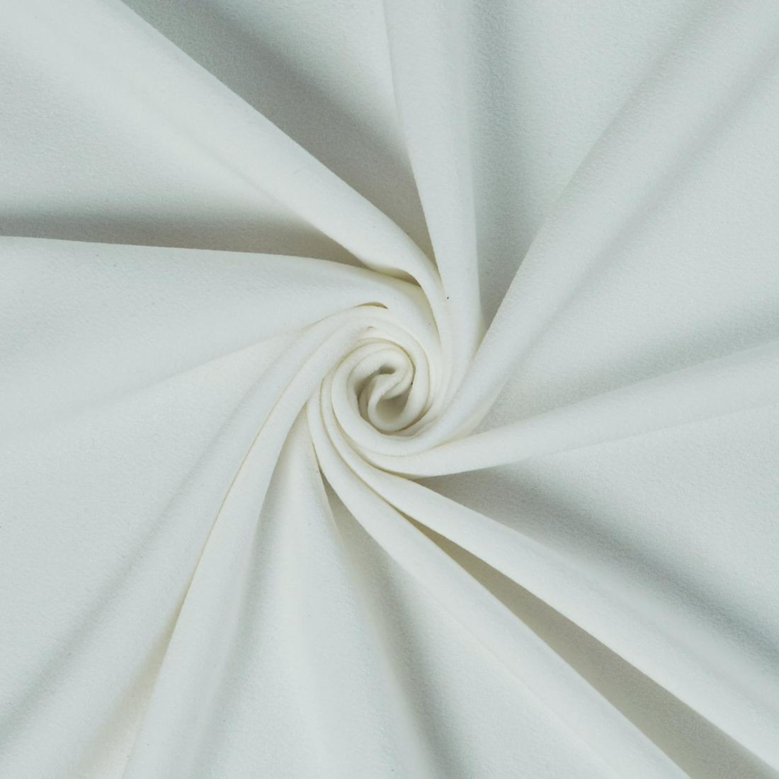Moss Crepe Ivory Dress Fabric