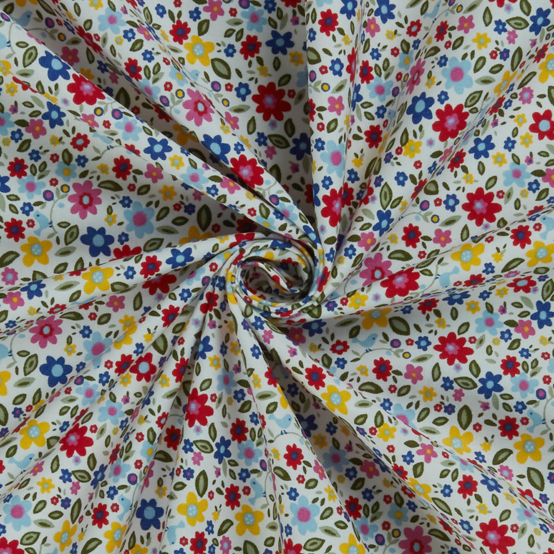Multi Ditsy Brights Dress Fabric