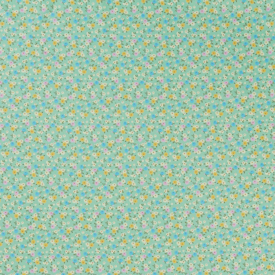 Multi Ditsy Green Dress Fabric