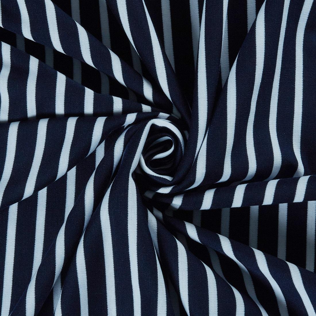 Nautical Jersey White/Navy Dress Fabric
