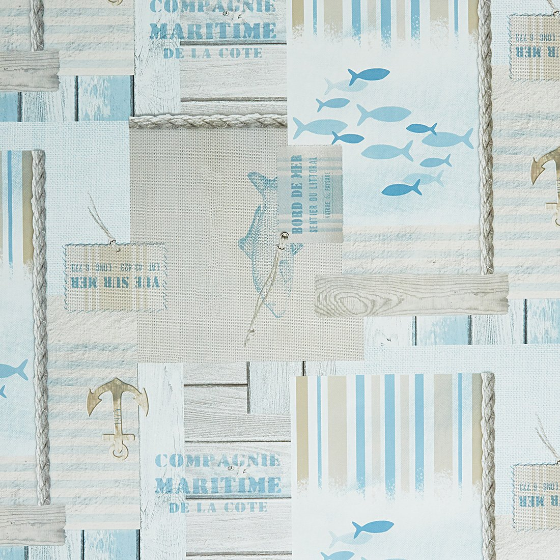 Ocean Breeze Chambray Oil Cloth