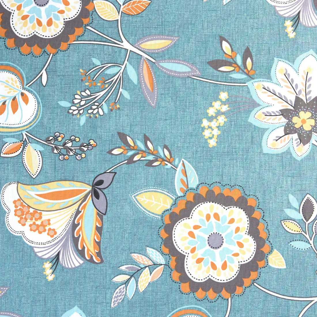 Octavia Teal Spice Upholstery Fabric