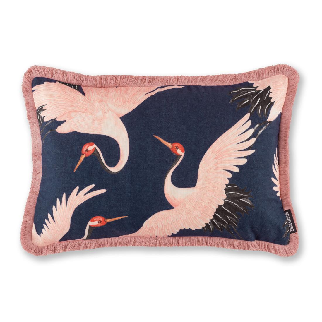 Paloma Faith Oriental Birds Navy Cushion