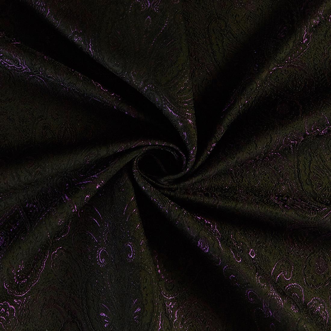 Paisley Jacquard Black Purple