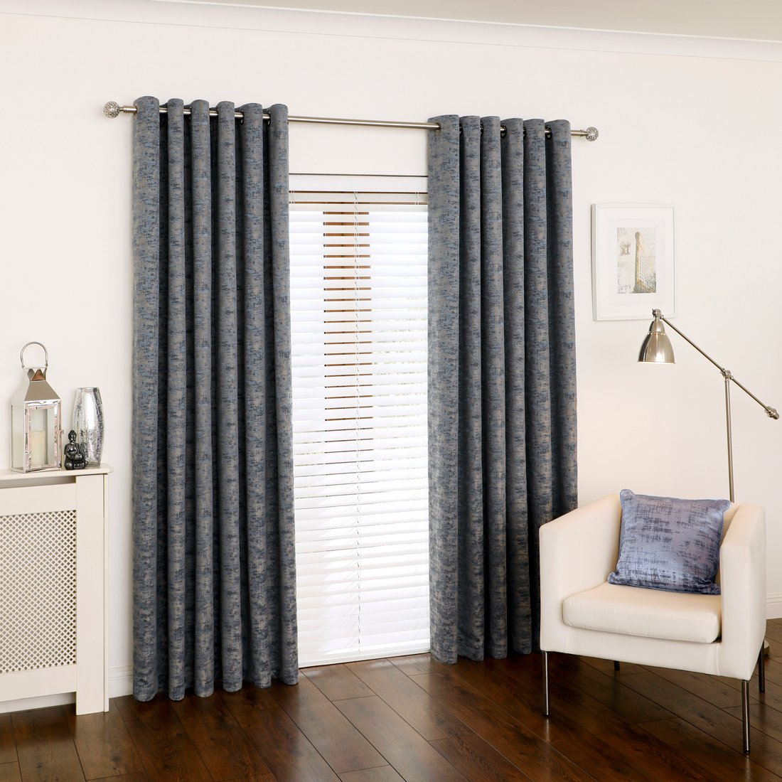 Parkin Navy Eyelet Curtains