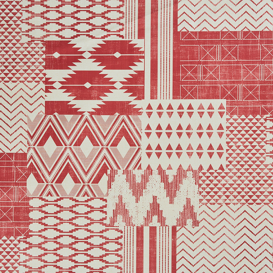Patch Tribal Terracotta Oil Cloth