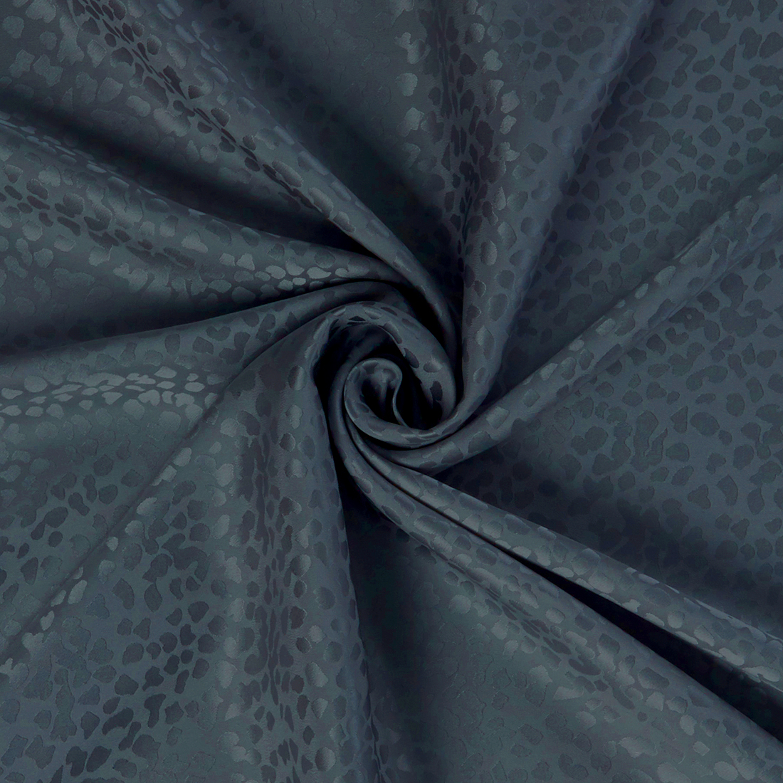 Pebble Silk Satin Airforce Dress Fabric