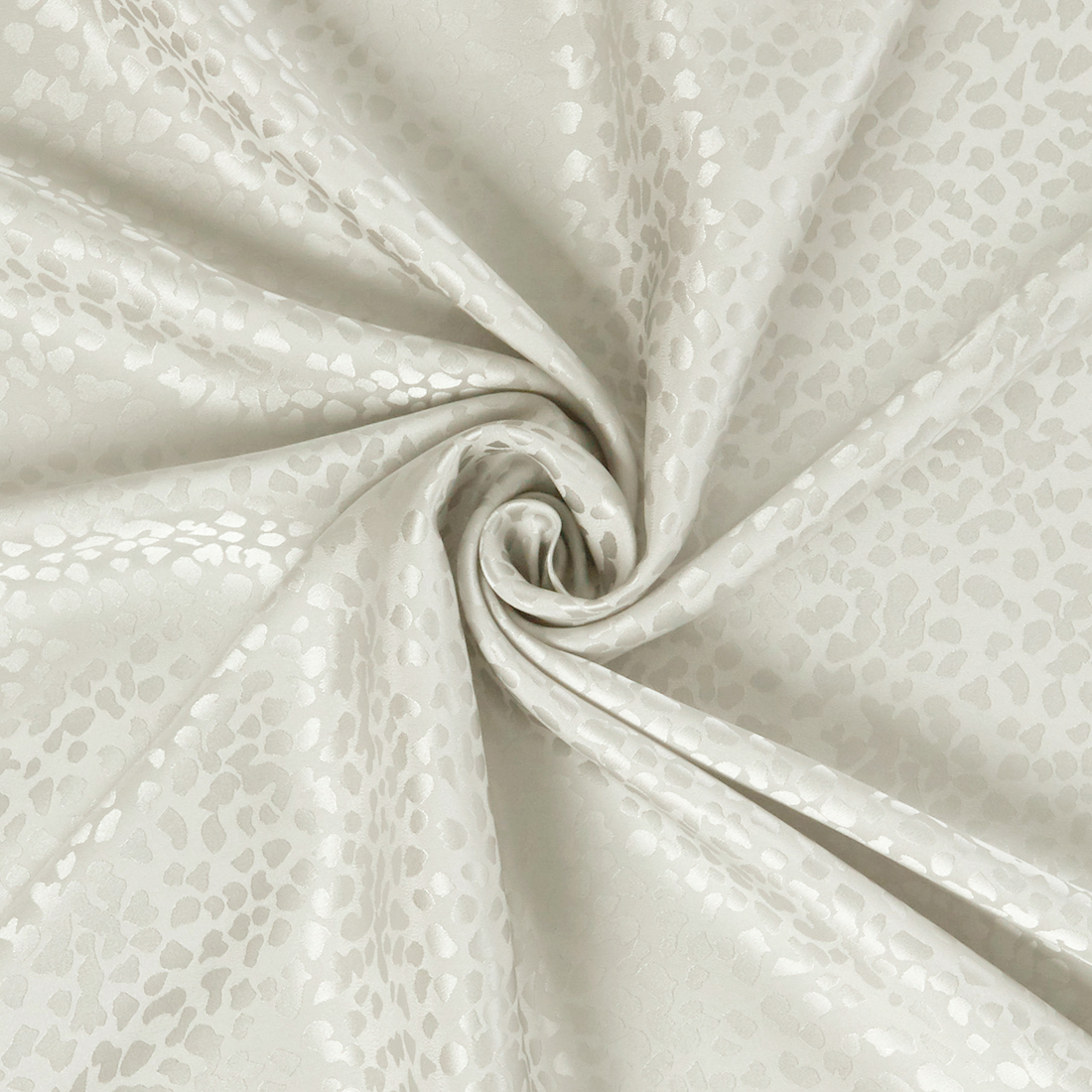Pebble Silk Satin Ivory Dress Fabric