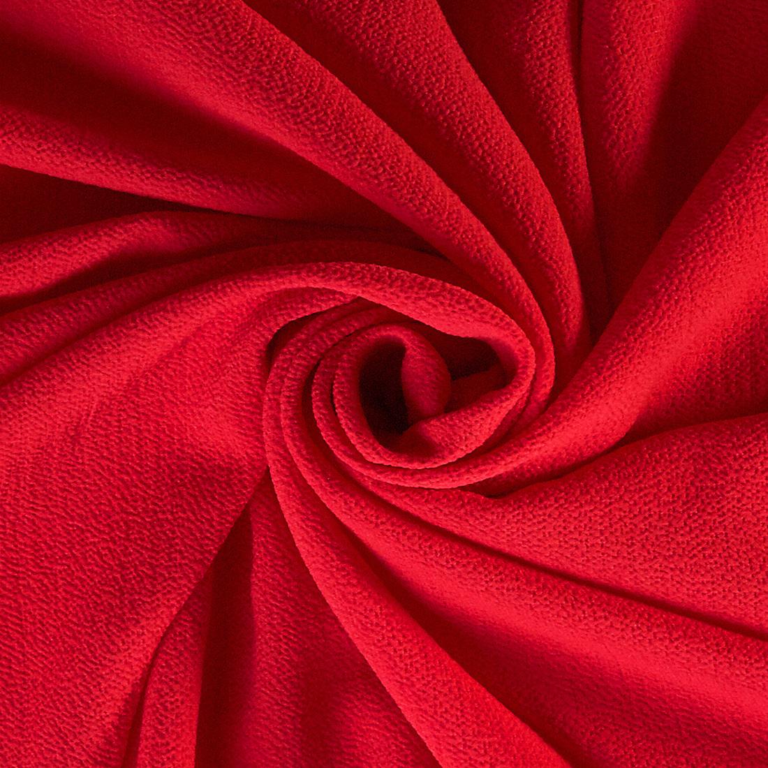 Pebble Crepe Scarlet