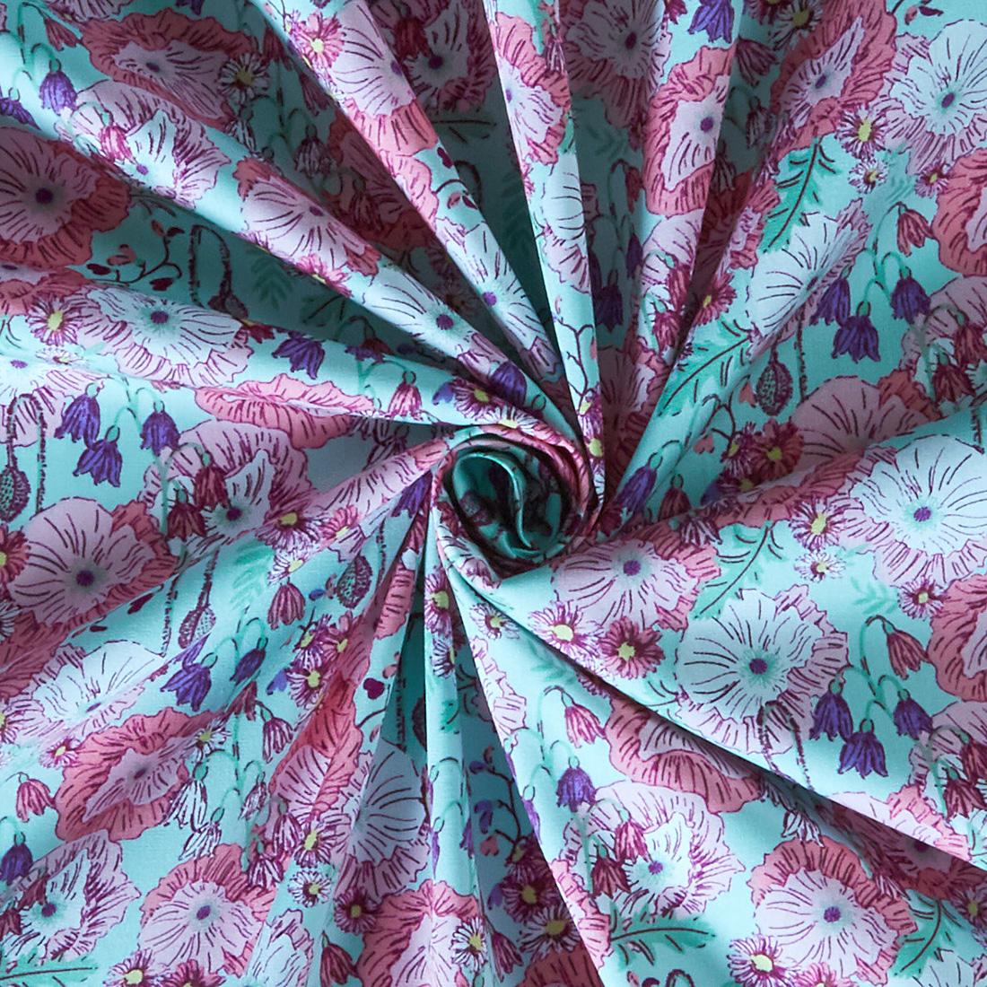 Cotton Poppy Blooms Mint