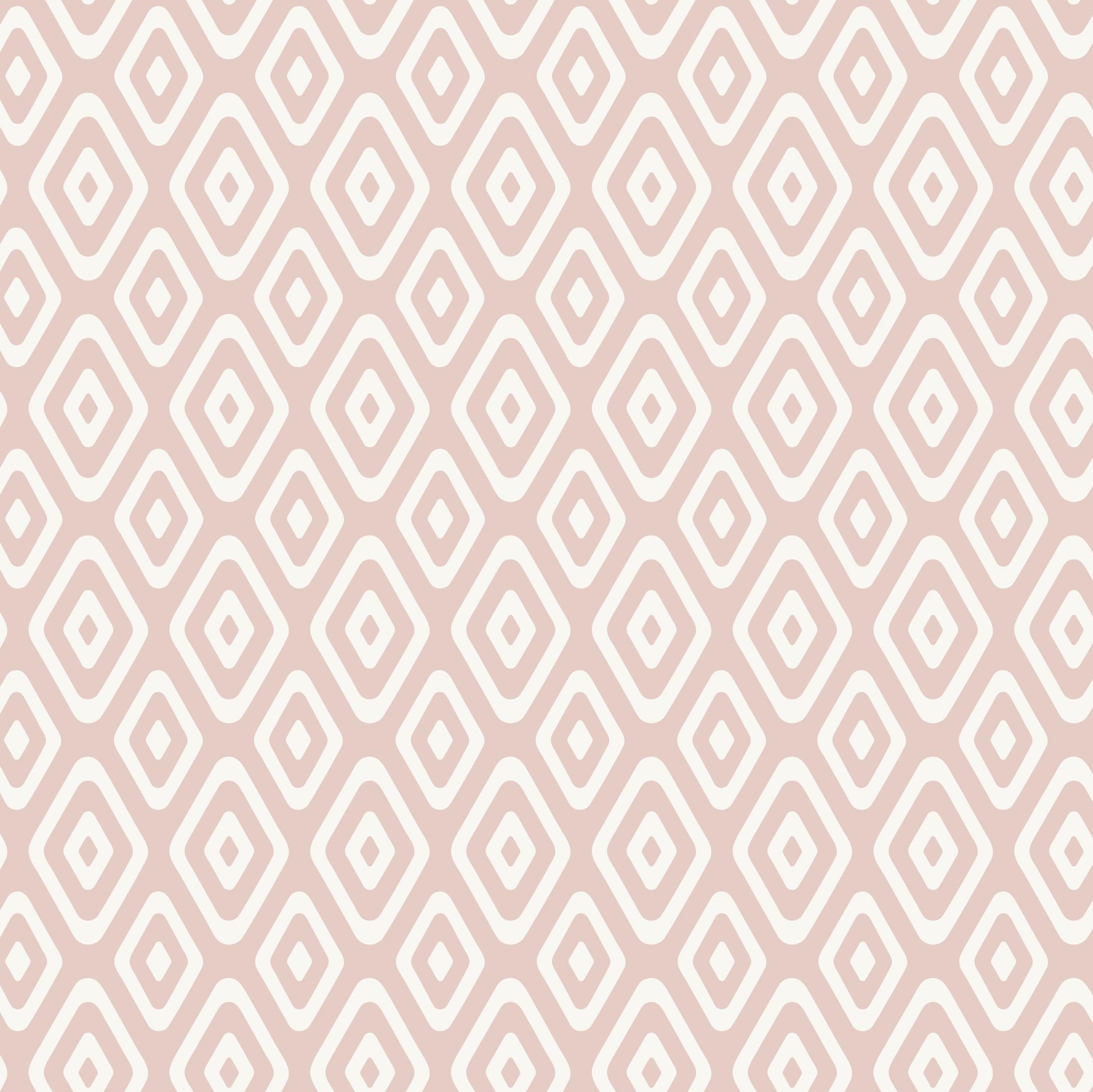 Posiedon Geo Triangle Dusky Pink Craft Fabric