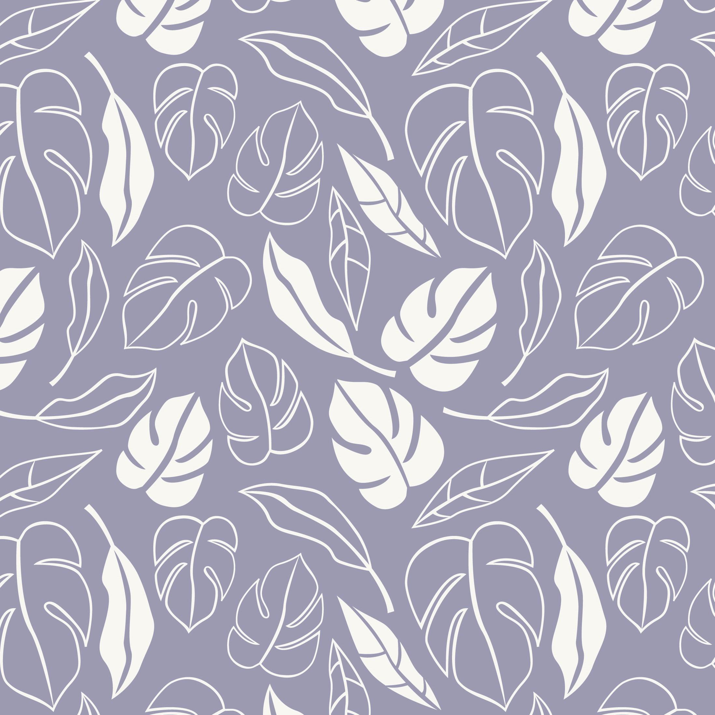 Posiedon Jungle Leaves Lilac craft Fabric