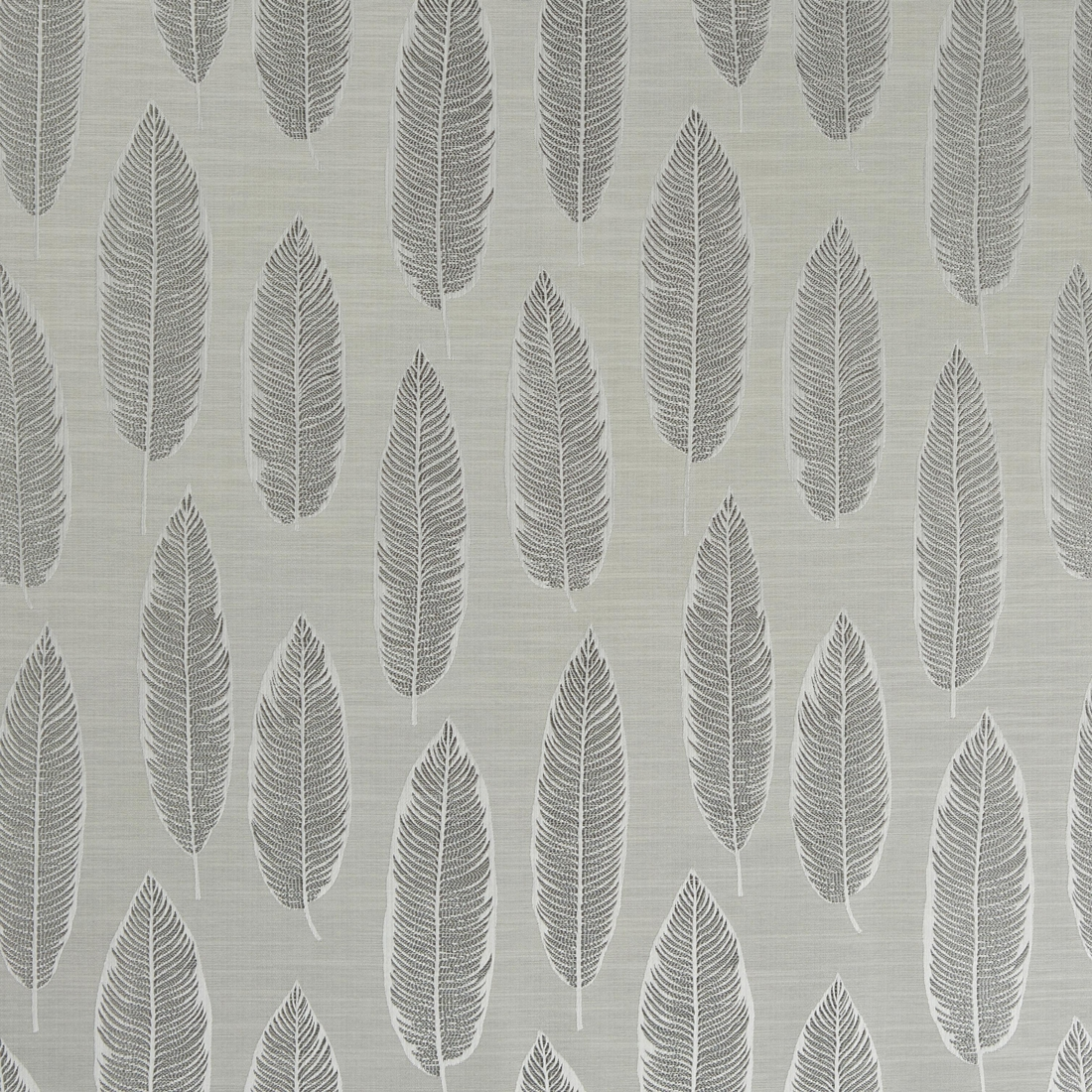 Quill Silver Curtain Fabric