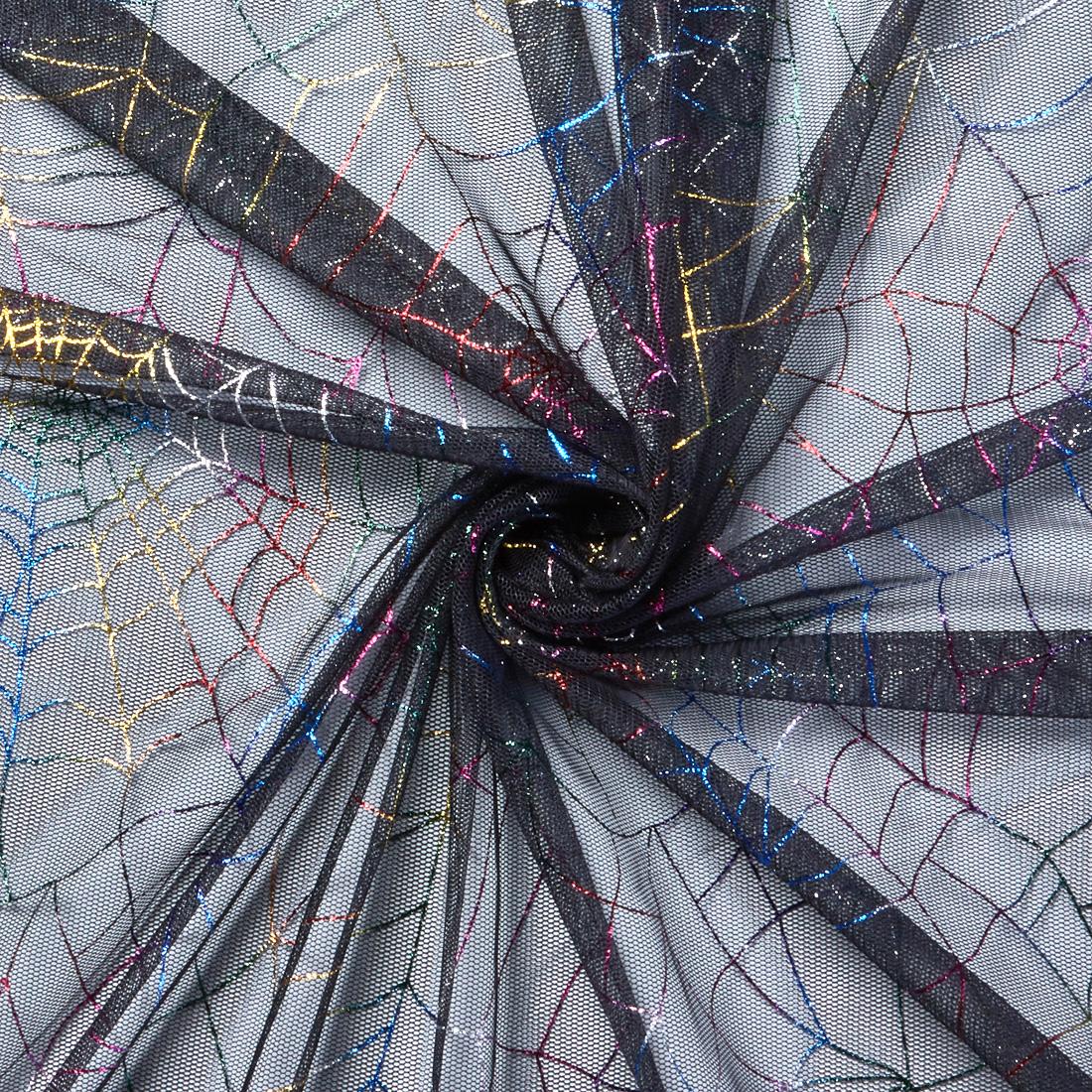 Rainbow Spiderweb Net Black Multi
