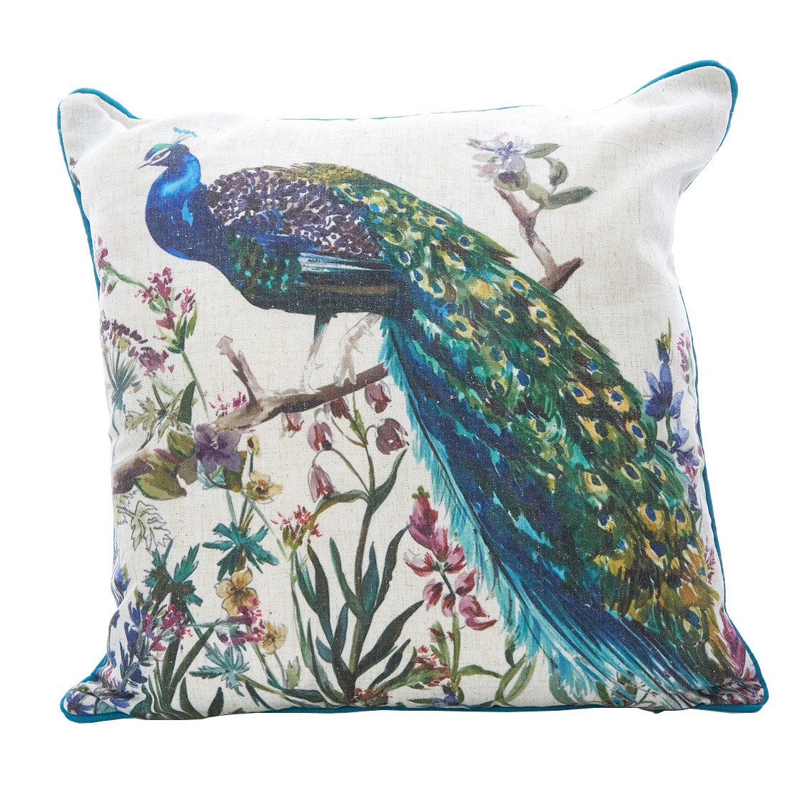 Regal Peacock Multi Cushion