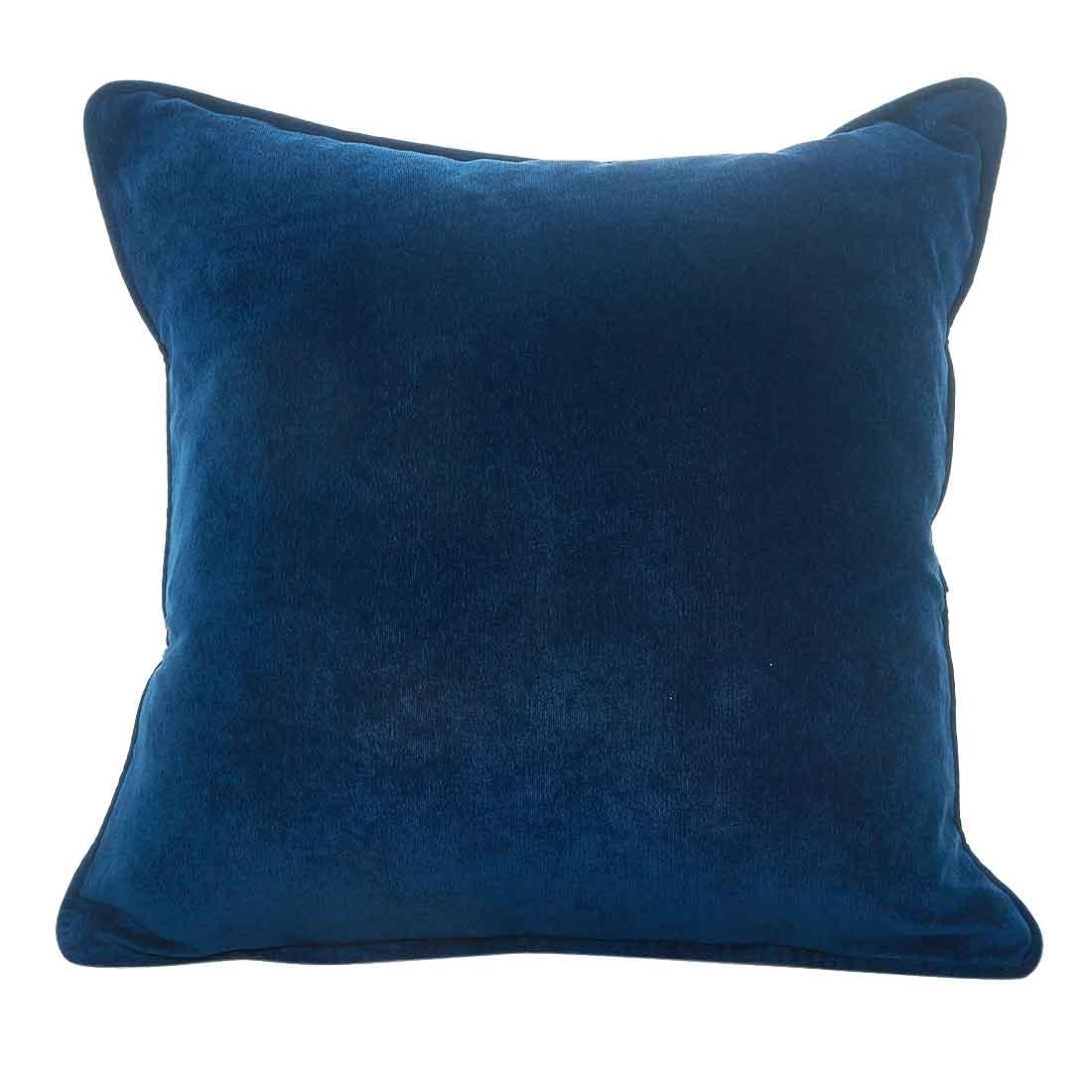 Rib Velour Soft Navy Cushion