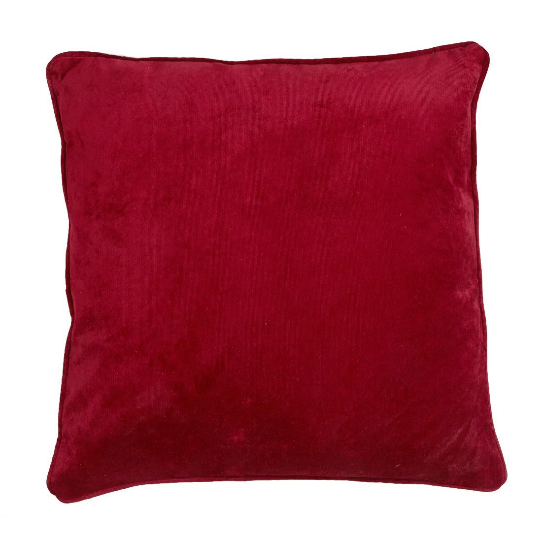 Rib Velour Ruby Cushion