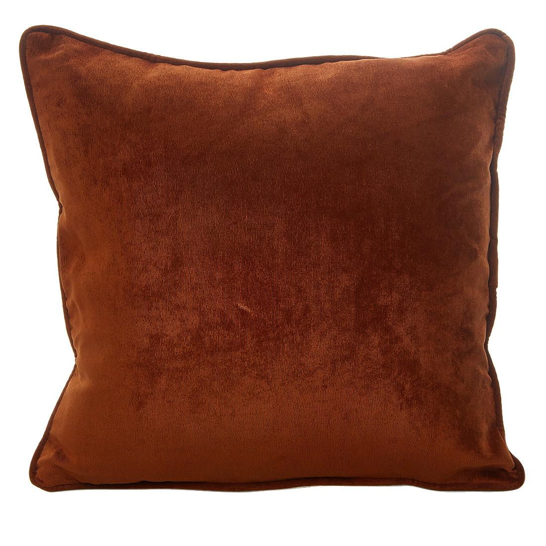 Rib Velour Russet Cushion