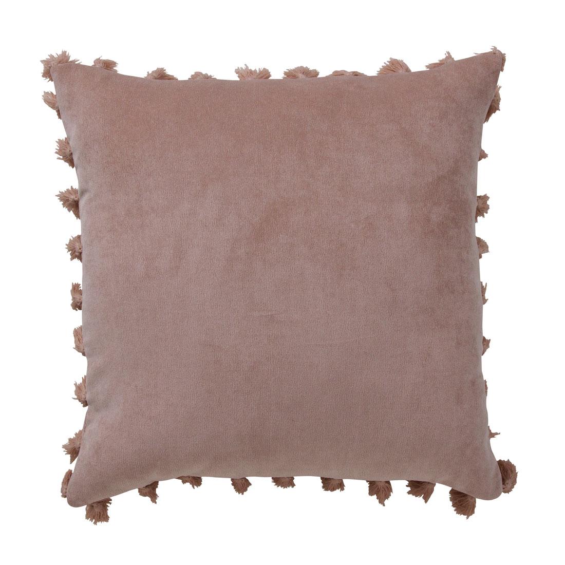 Rib Velour Tassel Blush Cushion