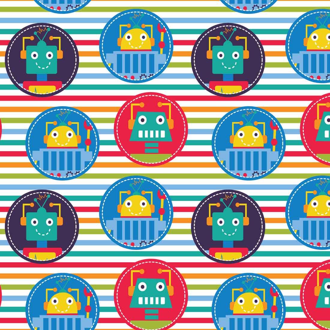 Robot Dreams Stripes Multi Craft Fabric