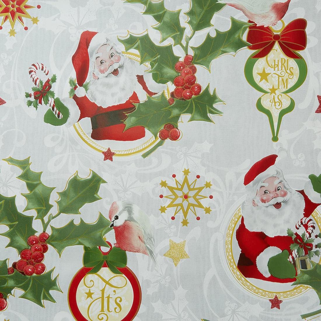 Santa Red Oil Cloth
