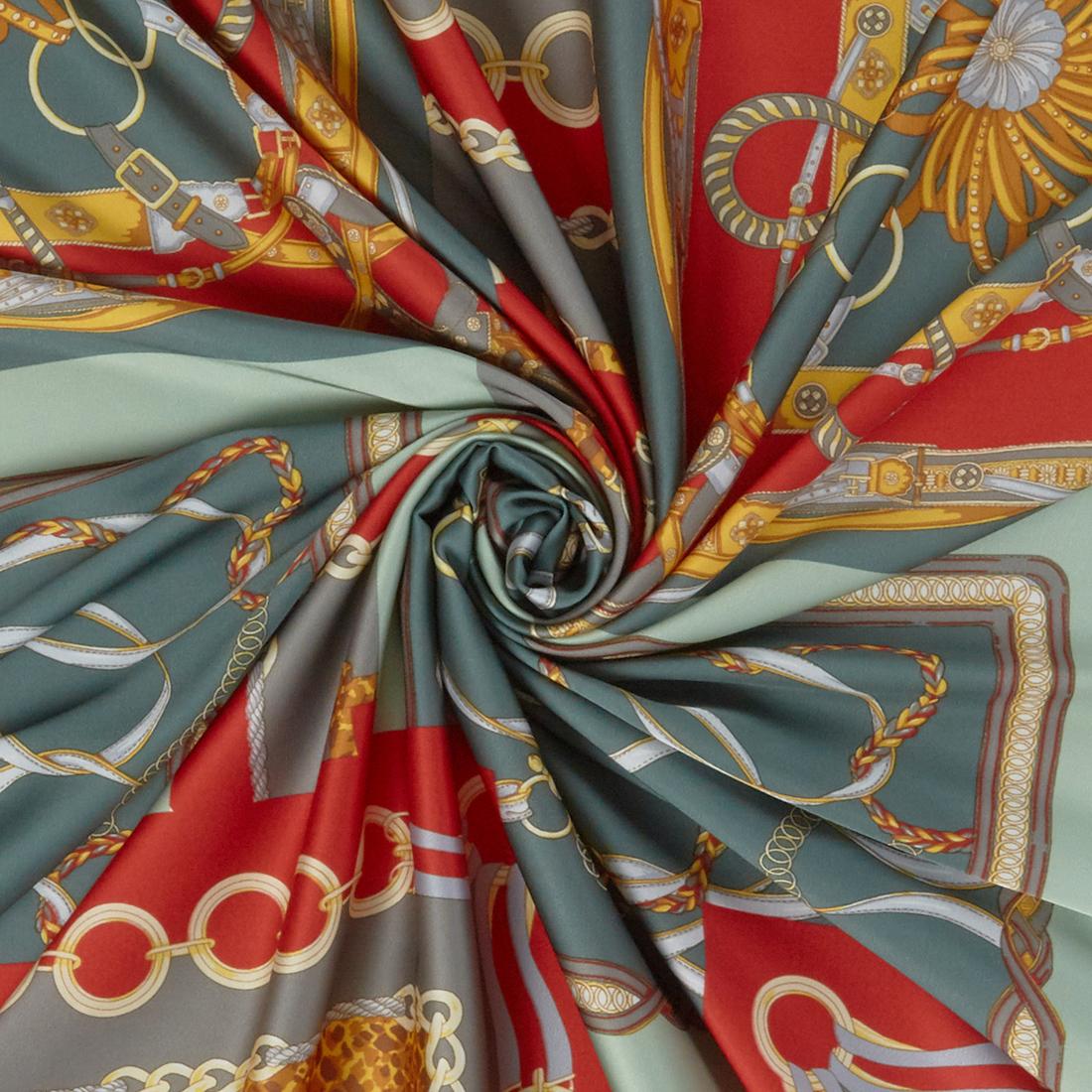 Scarf Peachskin Celadon Dress Fabric