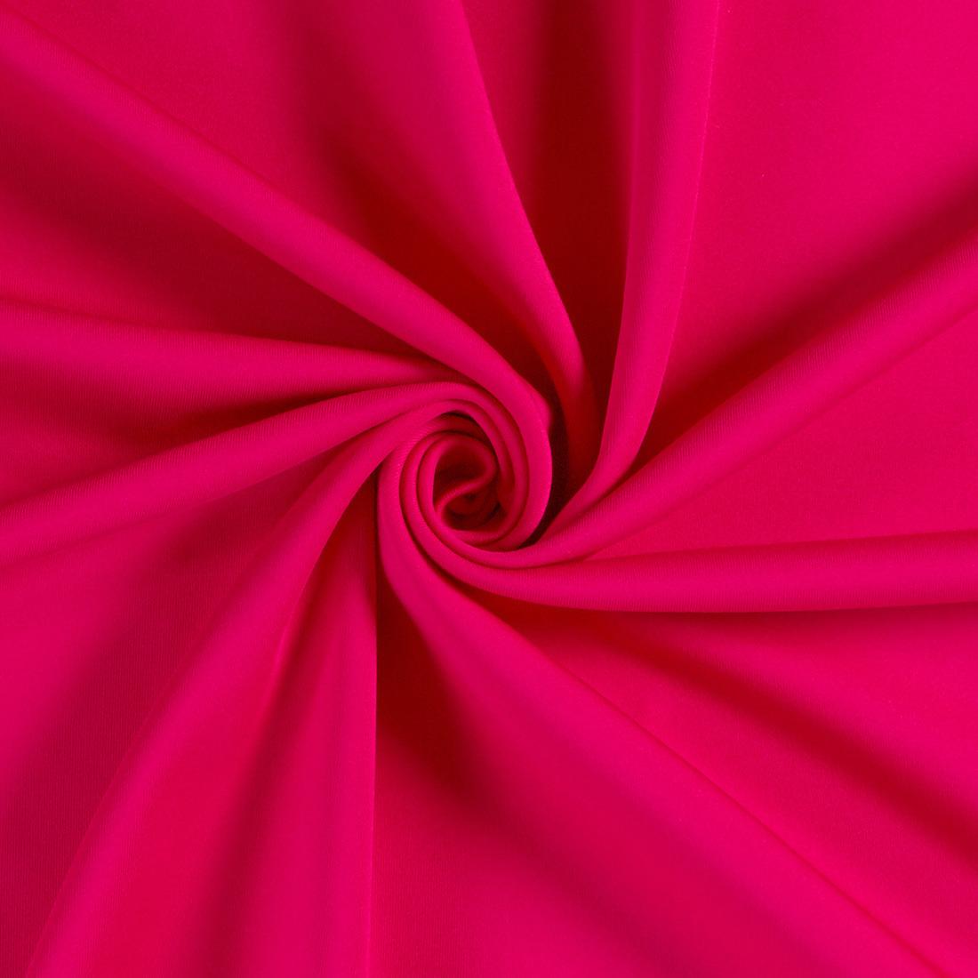 Scuba Plain Cerise Dress Fabric