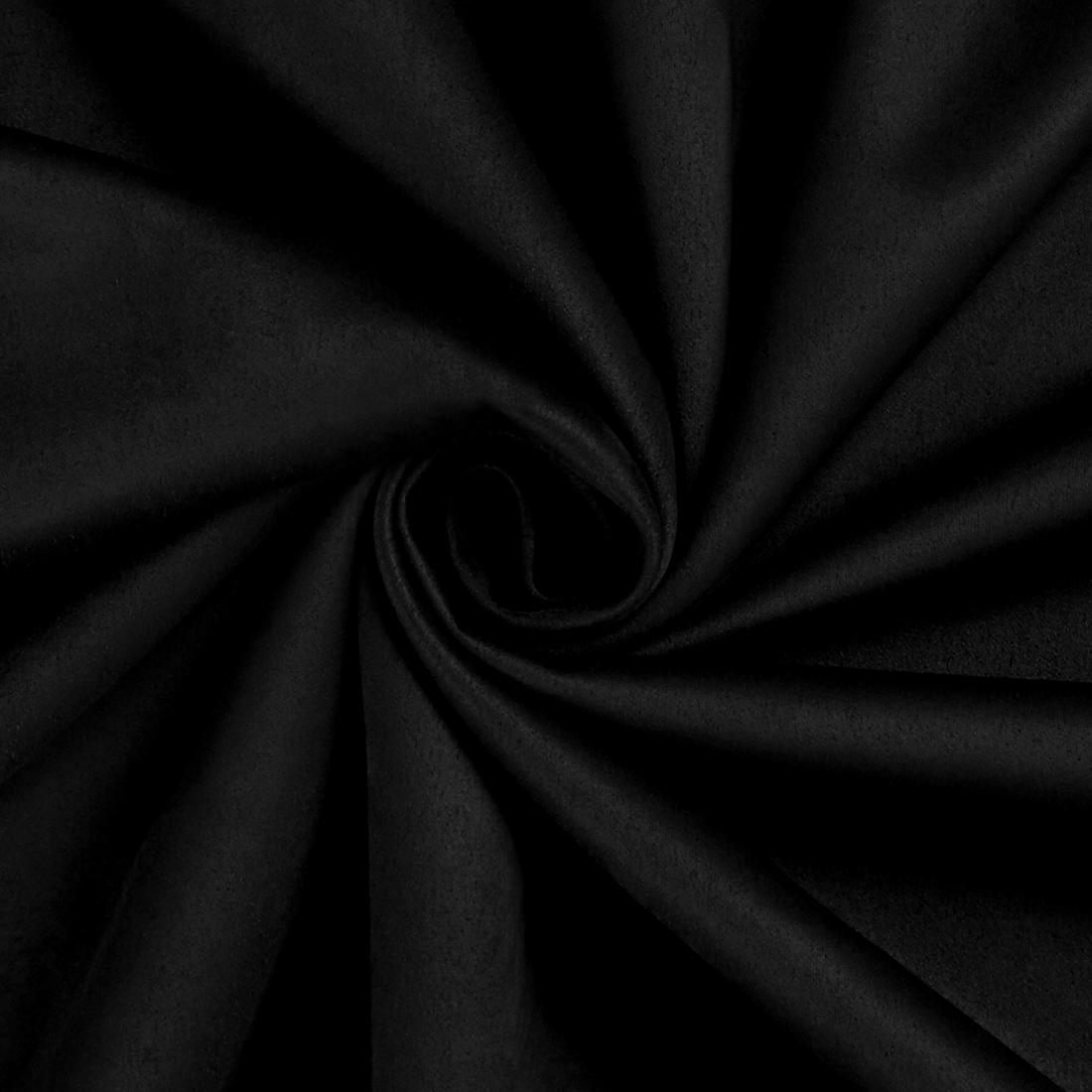 Scuba Suede Black Fabric