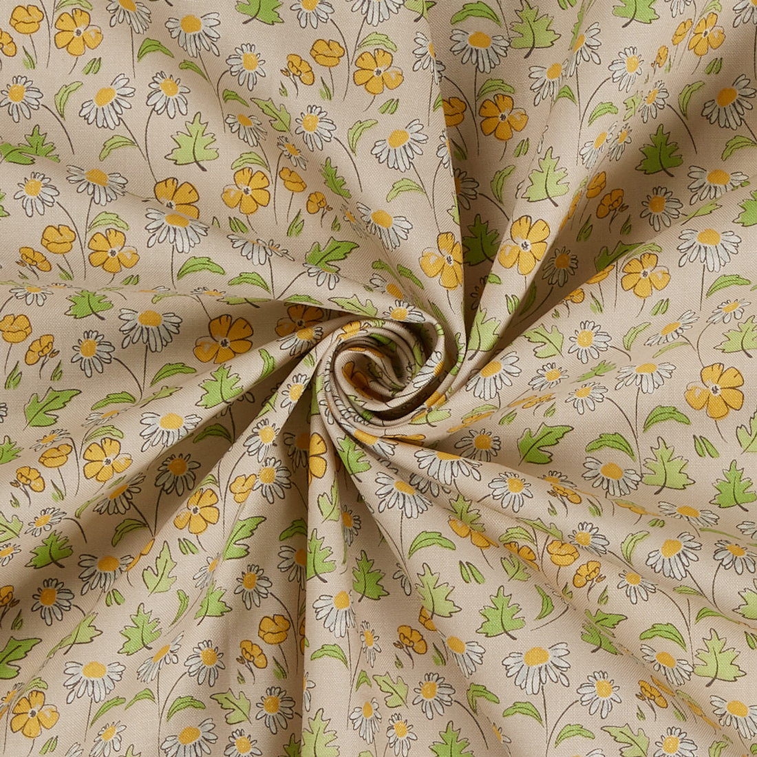 Buttercup Daisy Craft Cotton Fabric